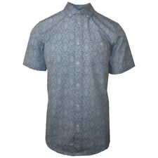 NWT Mens Obey Sky Blue Urban Short Sleeve Woven (Retail: $90)
