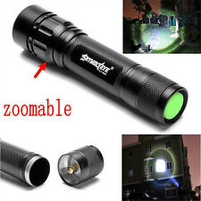 Tactical 15000LM 3 Modes T6 LED Flashlight Torch Lamp Light Fit 18650 Zoomable R