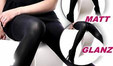 NEW 2-seitige Satin Tights Shiny or matt 100 DEN OPAQUE S-XL
