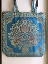 one INDIAN SILK BAG With GOLD EMBROIDERY PURSE HANDMADE SHOULDER BAG