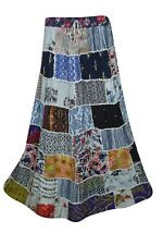 INDIAN ETHNIC VINTAGE PATCHWORK LONG SKIRT BOHO GYPSY HIPPIE CHIC WOMENS SKIRTS