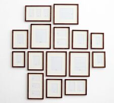 POTTERY BARN Wall GALLERY IN A BOX ~RUSTIC WOOD FRAMES~SET/15~ NEW IN BOX