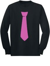 Children's Printed Pink Tie Cute Tuxedo Funny Youth Kids Long Sleeve T-Shirt