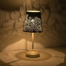 Bedside Table Lamp Living Room Metal Lighting Hollowed Out White Butterfly Shade