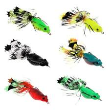 Frog Topwater Fishing Lure Skirts Crankbait Hooks Bass Bait Tackle, 6 Colors