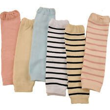 Baby Toddler Kid Solid Color Plain Stripe Long Socks Tights Arm Leg Warmers NEW