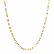 """10K REAL Yellow Gold 2.5MM Figaro Chain Link Necklace Bracelet 7""""- 22"""" Inches"""