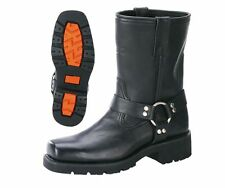 Motorcycle Short Harness Boot with Lug Sole