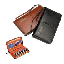 Multifunctional Leather Men Zip Clutch Wallet Purse Phone Bag Credit Card