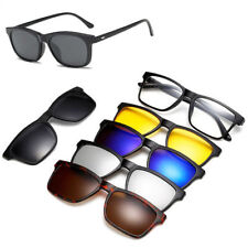 Spectacle Magnetic Sunglasses With Clip-on Frame Rx Polarized 5 Pieces Glasses