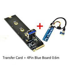 M.2 NGFF to PCI-E X16 Slot Transfer Card Mining Riser Extension Line Extender