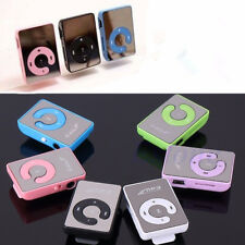 Mini 5 Colors Mirror Clip USB Digital Mp3 Music Player Support 8GB SD TF Card