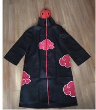 Naruto Akatsuki uchiha madara Robe Cloak Anime Costume Cosplay with a Tobi Mask