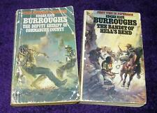 EDGAR RICE BURROUGHS lot 2 pb Westerns Hell's Bend Commanche County  free ship