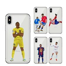 Footballer Clear Soft Case Cover for iPhone X 8 7 6 Plus iPhone 5s Messi Ronaldo