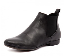 EOS MADE IN Portugal NILA BLACK soft Leather flat ankle boots,comfortable!SALE!