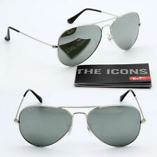 Ray Ban Aviator sunglasses RB3025 Silver Mirrored / Sliver Frame Large 62 mm New