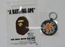 * A BATHING APE Goods BAPE x KEITH HARING KEY RING Green From Japan New