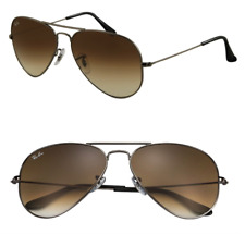 Ray Ban Aviator Sunglasses RB3025 RB3026 004/51 Brown Gradient 58mm Gunmetal New