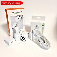 OEM Quality 5FT Car&Wall Charger for Samsung Galaxy S7 Note 5 Charging Dual USB