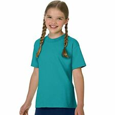 Hanes Authentic Tagless Kids' Cotton T-Shirt, Teal