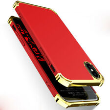 Ultra Slim Luxury Plating 3 In 1 Hybrid Armor Phone Case Cover For iPhone X 8 7