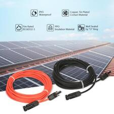 20 Ft B &10 Ft R Solar Panel PV Extension Cable Wire W/ M/F MC4 Connectors O8P4