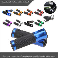 "2X 7/8"" Motorcycle CNC Bike Bicycle Aluminum Handlebar Rubber Gel Hand Grips"