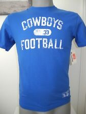 New Blue Men's Reebok Dallas Cowboys Football #33 Dorsett Short Sleeve T-Shirt