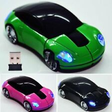 New Car Shape Wireless Cordless LED Mouse Mice 2.4G + USB Receiver for PC Laptop