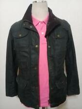 Womens BARBOUR Flyweight Rose Sapper WAXED Jacket Green Size UK 8 USA 4