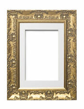 Wide Ornate MUSE Picture Frame Photo Frame Poster Frame with Bespoke Mount Gold