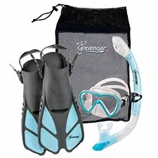 Diving Set Silicone Mask Trek Fins Flippers Dry Top Snorkel Quick Dry Gear Bag