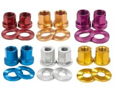 """The Shadow Conspiracy Alloy Axle Nuts - 3/8"""" (10mm) BMX Bike Nuts"""