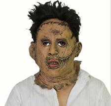 SERIAL KILLER GRUESOME LATEX FACE MASK HORROR HALLOWEEN Fancy Dress Zombie hairs
