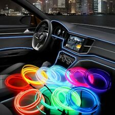 Neon LED Light Glow EL Wire String Rope Strip Tube Car Dance Party + Controller