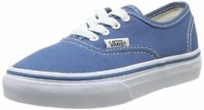 Vans Kids Authentic (Glitter Textile) Skate Shoe, Navy