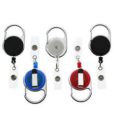 4 Pack - Retractable ID Badge Reels with Carabiner and Swivel Back Belt Clip