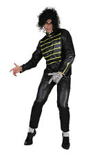 Fancy Dress Mens Billy MJ Costume Billie Dance Troupe Pop Icons Silver Glove