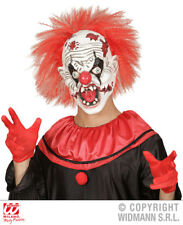 Halloween Torture Clown Mask with Red Hair Fancy Dress Horror Face