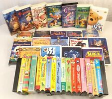 Lot of 39 VHS Kids videos cartoons and movies Disney Columbia and more