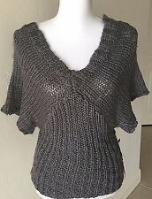New Jessica Simpson Women's Sweater Size Small S NWT Knit Shirt Gray V Neck
