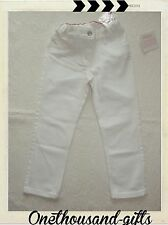 NWT Hanna Andersson Girls White Skinny Jeans  Sz. 130