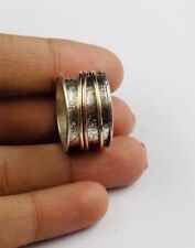 AAA Nice 8 No.Old Vintage,Spinner Silver ring,Bronze Rose Gold 925 Silver Plated