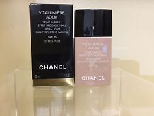 CHANEL VITALUMIERE AQUA SPF 15, SKIN PERFECTING Oil- free MAKEUP