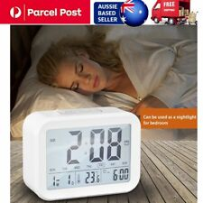 AU_Digital Alarm Clock Creative Large LCD Display Snooze Bedroom Nightlight