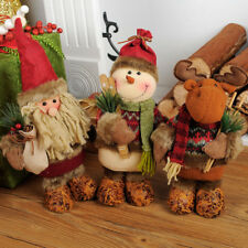 Christmas Decoration Scene Layout Cartoon Baby Toy Doll Santa Claus Snowman Deer