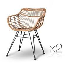 NEW Set of 2 Rattan Dining Chair Natural