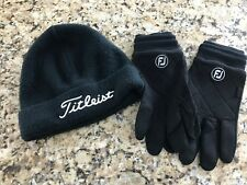 WINTER SPRING GLOVES, CART MITTS AND HATS COMBO, TITLEIST, FOOTJOY