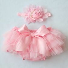 2PC Toddler Baby Infant Girl Chiffon Ruffle Bloomer Nappy PP Pants Diaper Cover